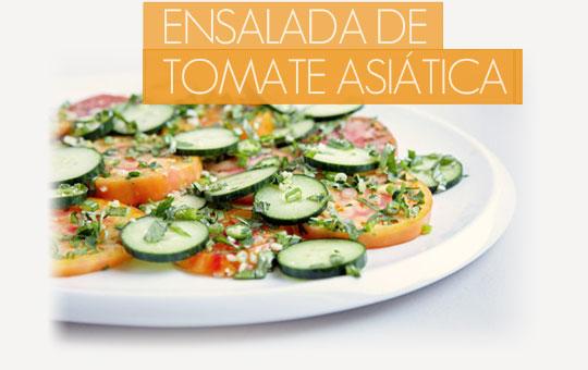 Receta fácil de ensalada de tomate asiática con el sabor más gourmet
