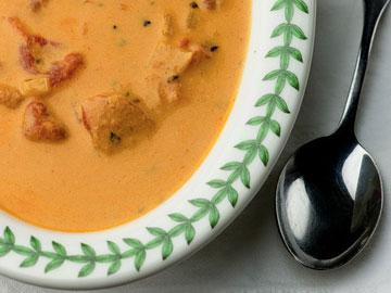 Receta de sopa de tomate y gorgonzola