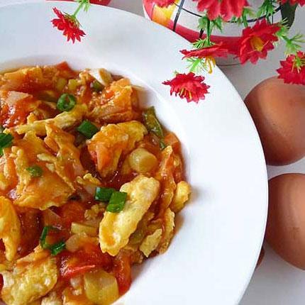 Receta de huevos con tomate chinos